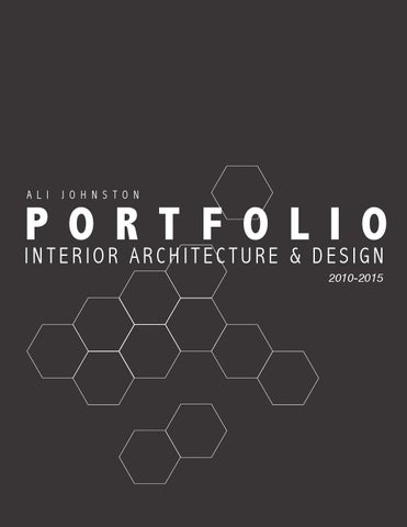 Ali johnston portfolio of interior architecture design by ali johnston issuu for How to make interior designer portfolio
