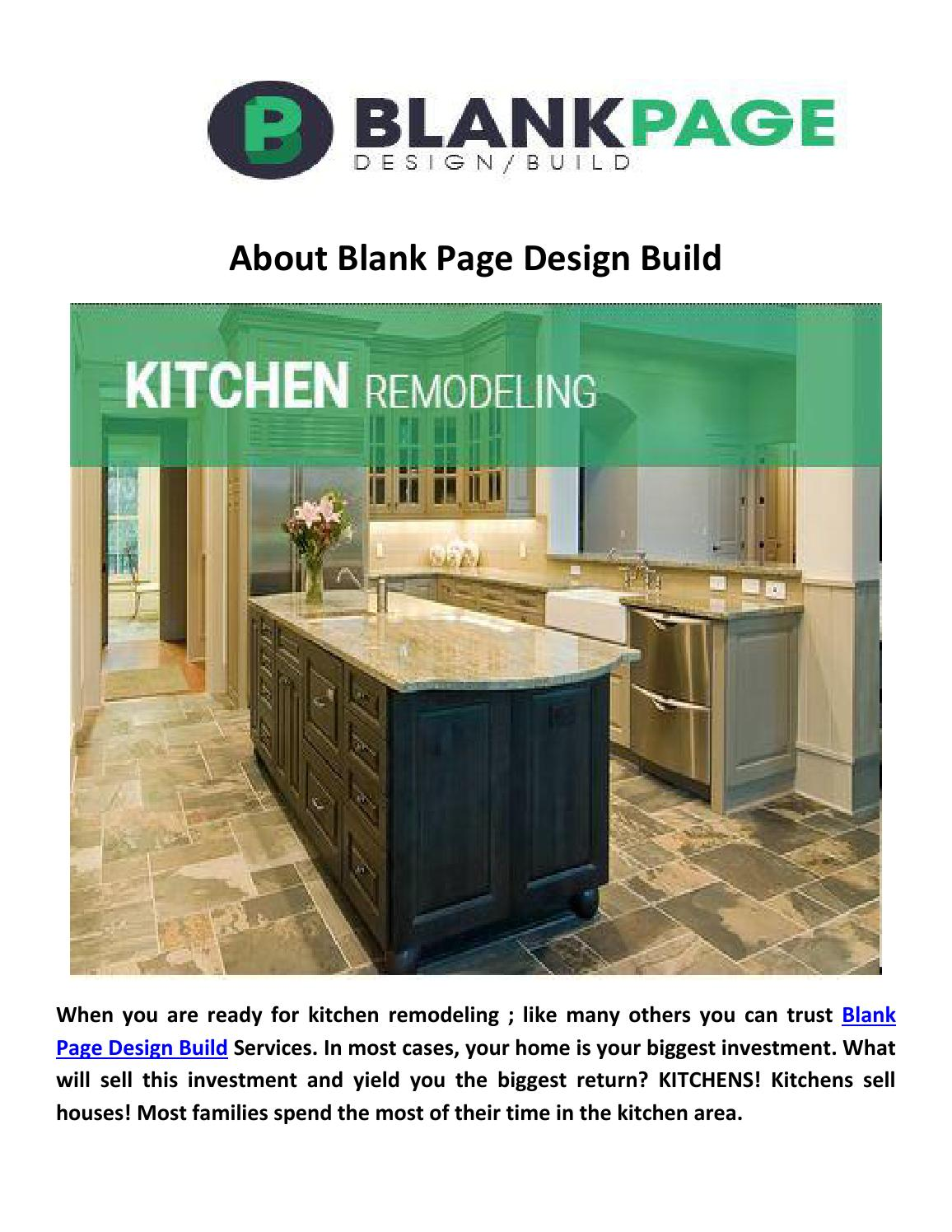 Blank page design build kitchen remodeling arlington by Blank Page ...
