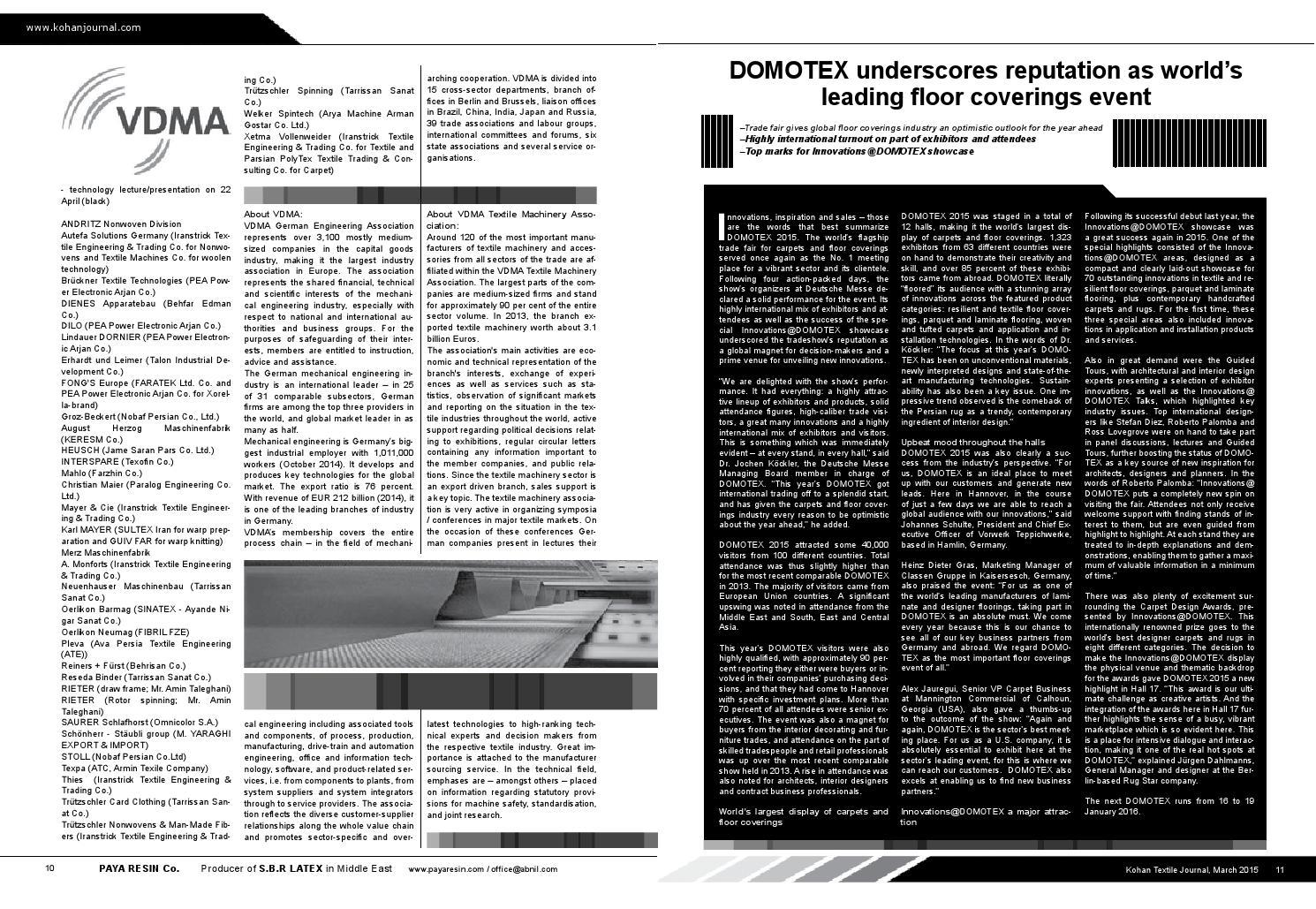 Kohan textile Journal No 28 by Kohan Textile Journal / Middle East