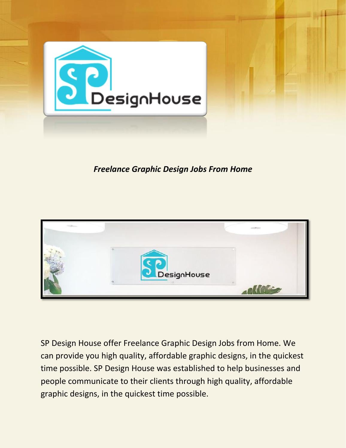Freelance Graphic Design Jobs From Home By Spdesignhouse Issuu