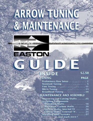 Arrow tuning tips for the target toxophilite easton archery.