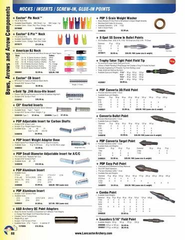 New Dozen PDP Aluminum Point Inserts for 1913 Aluminum Arrows