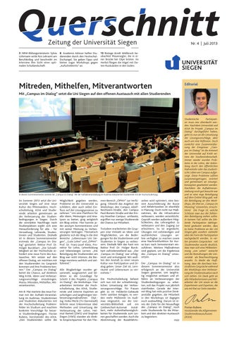Querschnitt 4/2013 by Universität Siegen - issuu