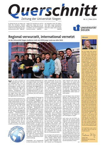 Querschnitt 2/2014 By Universität Siegen   Issuu