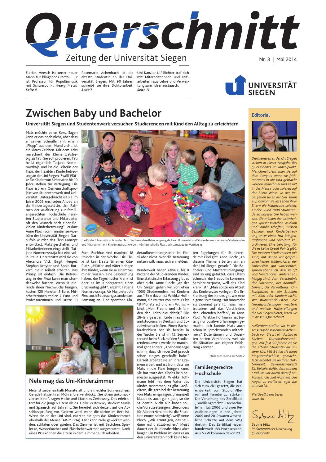 Querschnitt 3/2014 by Universität Siegen - issuu