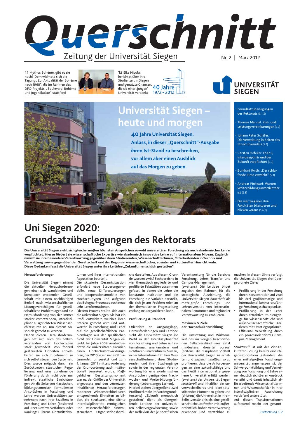 Querschnitt 2/2012 by Universität Siegen - issuu