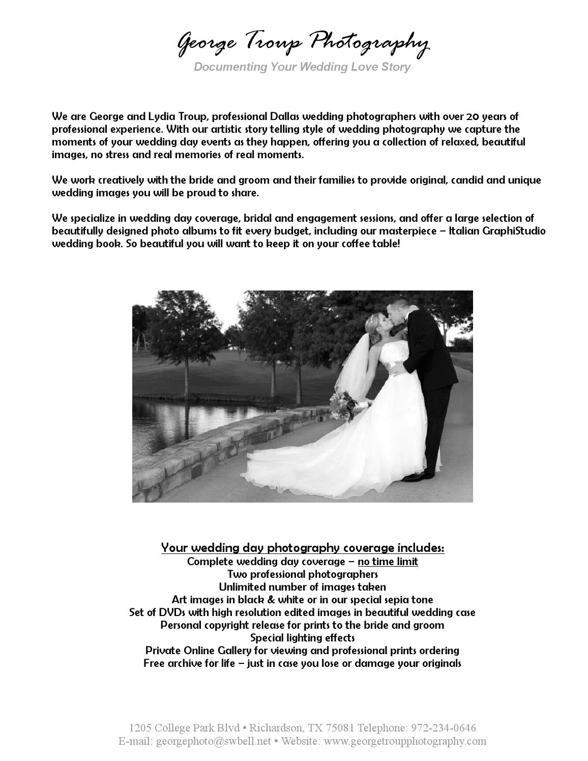 Wedding Photography Rate: Wedding Photography Rates By George Troup Photography