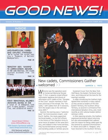 Good News! September 2012 by The Salvation Army: SAconnects