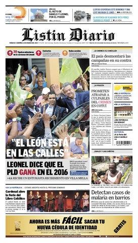 3e639dda79 LD 2015-03-15 by Listín Diario - issuu