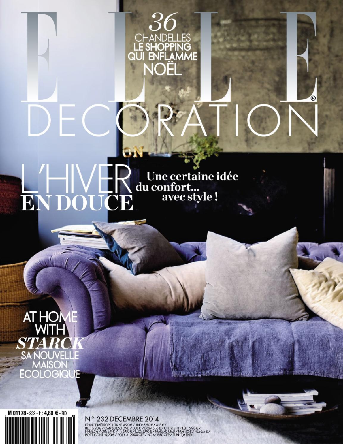 Elle decoration france n 232 december 2014 by maison for Elle decoration france