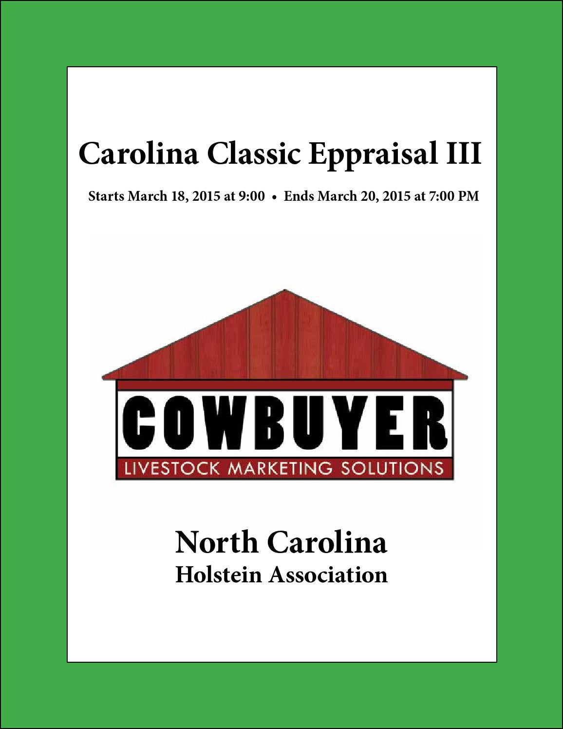 Carolina Classic Eppraisal Sale Iii By Dairy Agenda Today Issuu The preparation of an appraisal involves research into appropriate market areas; issuu
