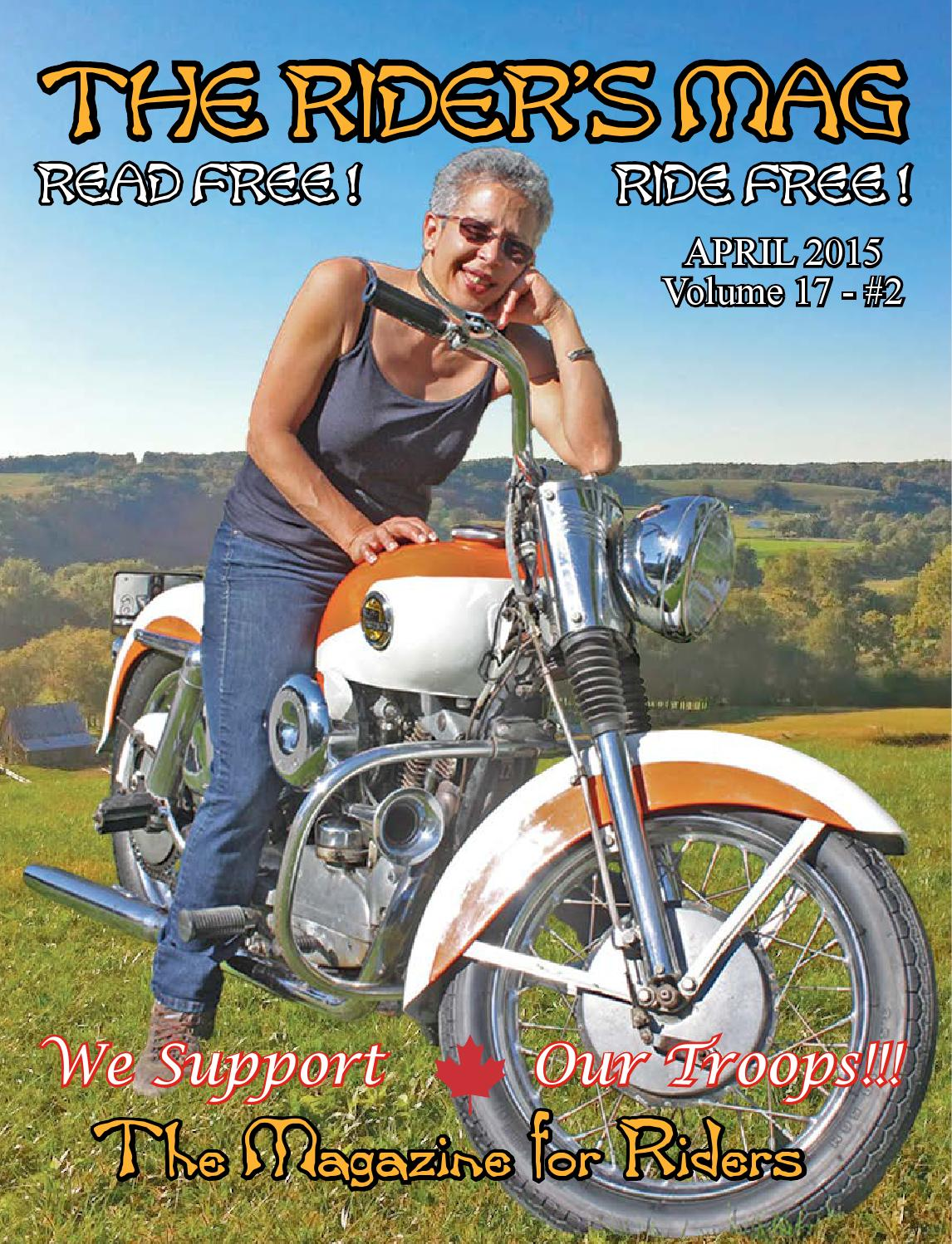 The Riders Mag April 2015 V17 N02 By Issuu Harley Davidson Semi Rimless Black Sunglassess 870