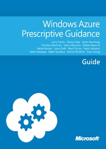 Windows azure prescriptive guidance by home - issuu