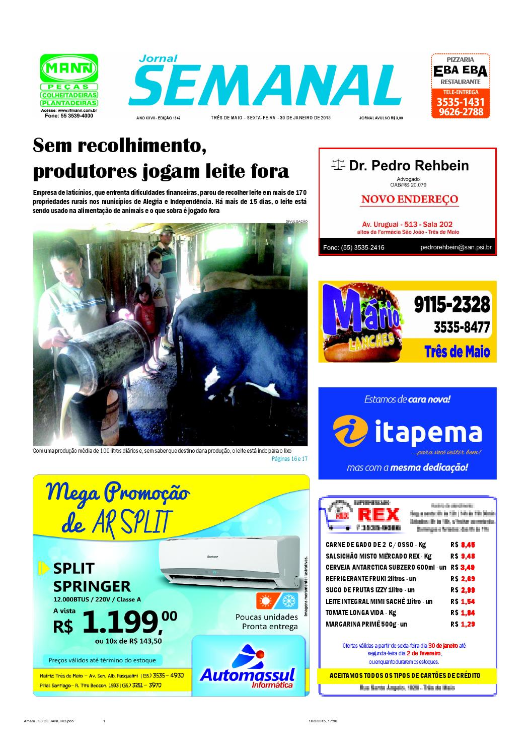 Jornal Semanal Ed 1342 - 30 de janeiro by Semanal Jornal - issuu