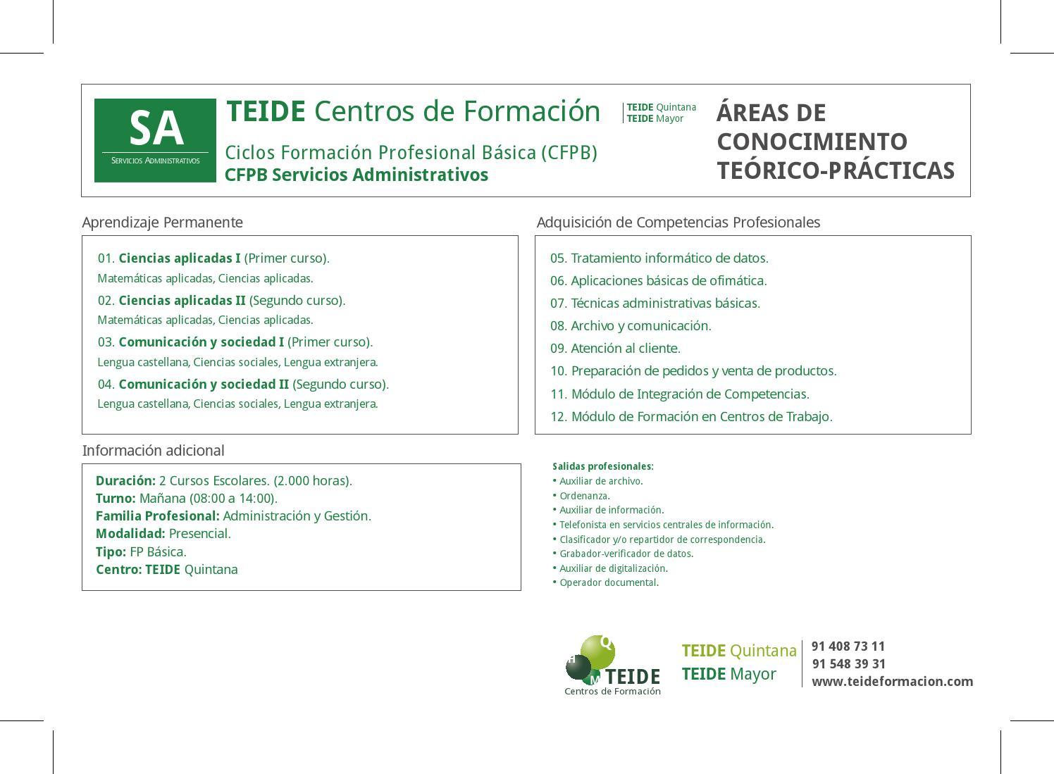 Cfpb Servicios Administrativos Teide By Teidehease Issuu