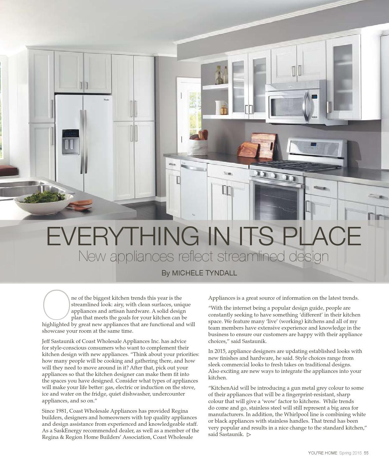 Kitchen Appliances Regina: You're Home Spring 2015 By Postmedia Saskatchewan