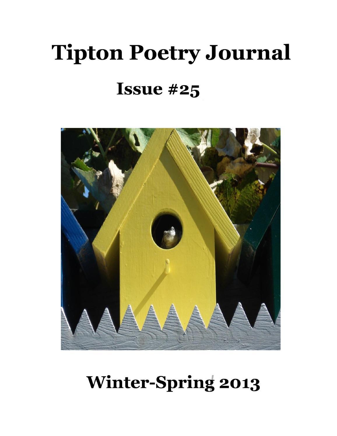 Tipton Poetry Journal - #25 by Tipton Poetry Journal - issuu