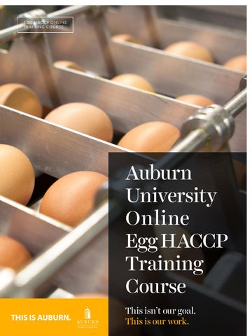 Online Egg HACCP Certification Brochure by aupoultryscience - issuu