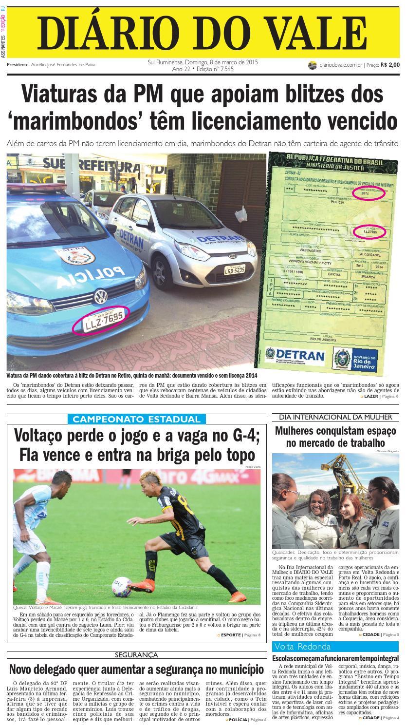 64018c5b33 7595 diario domingo 08 03 2015 by Diário do Vale - issuu