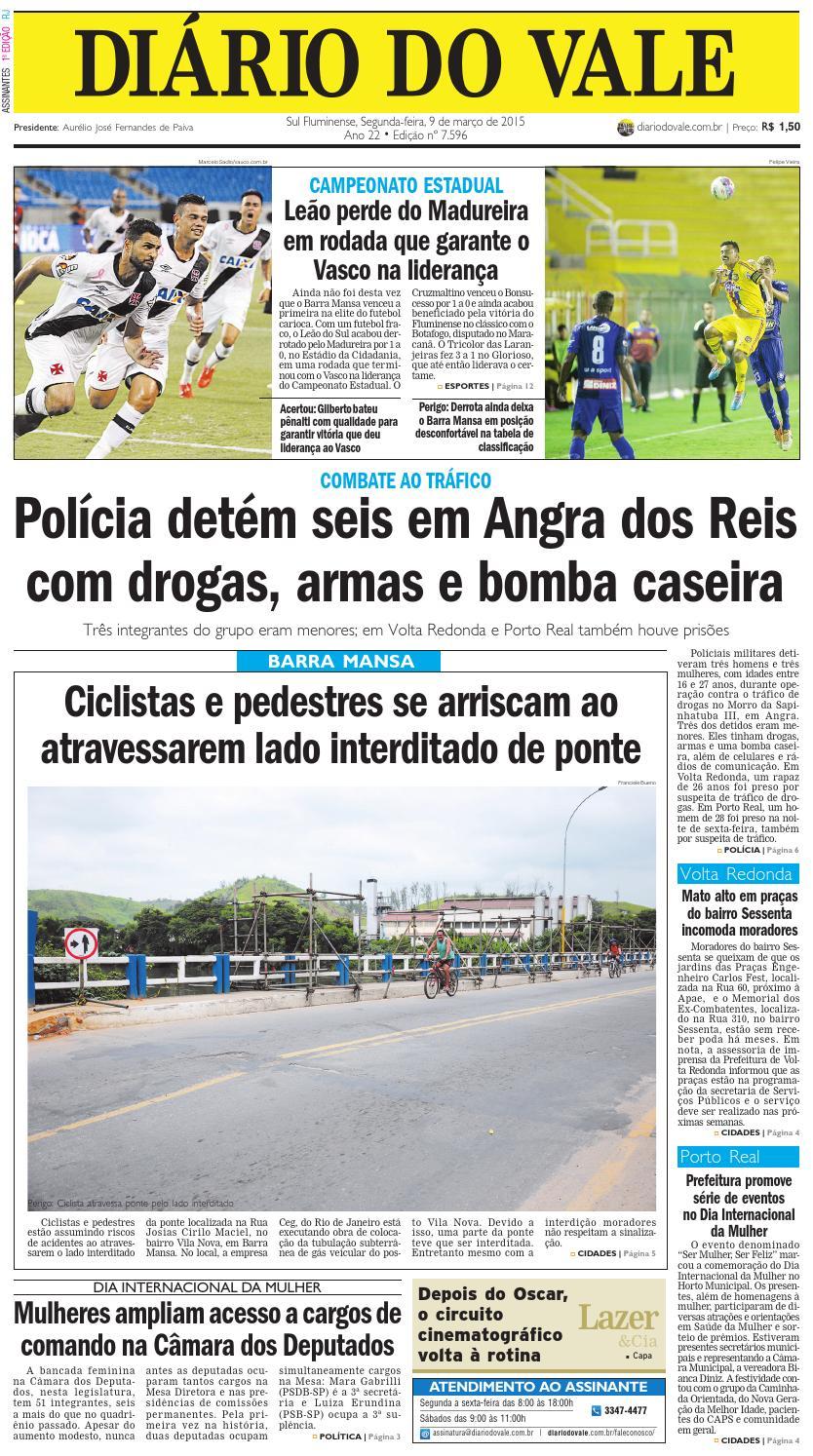7596 diario segunda feira 09 03 2015 by Diário do Vale - issuu 4abe5f389e