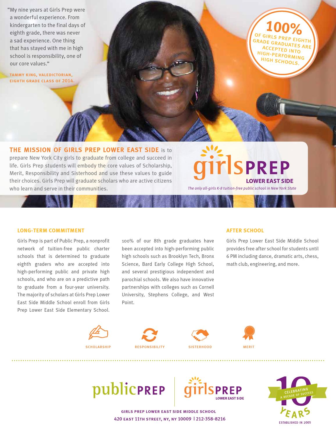 2015 Girls Prep Les Middle School One Pager By Public Prep Issuu