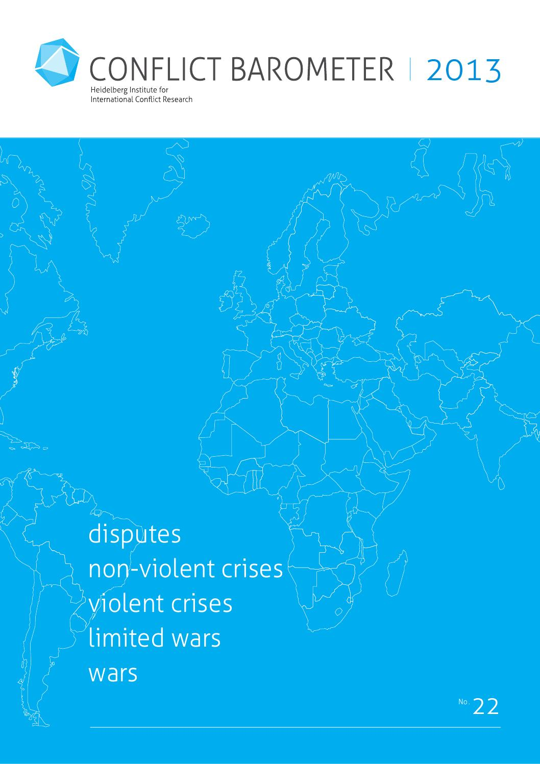 Conflict Barometer 2013 by Jorge F Acevedo - issuu