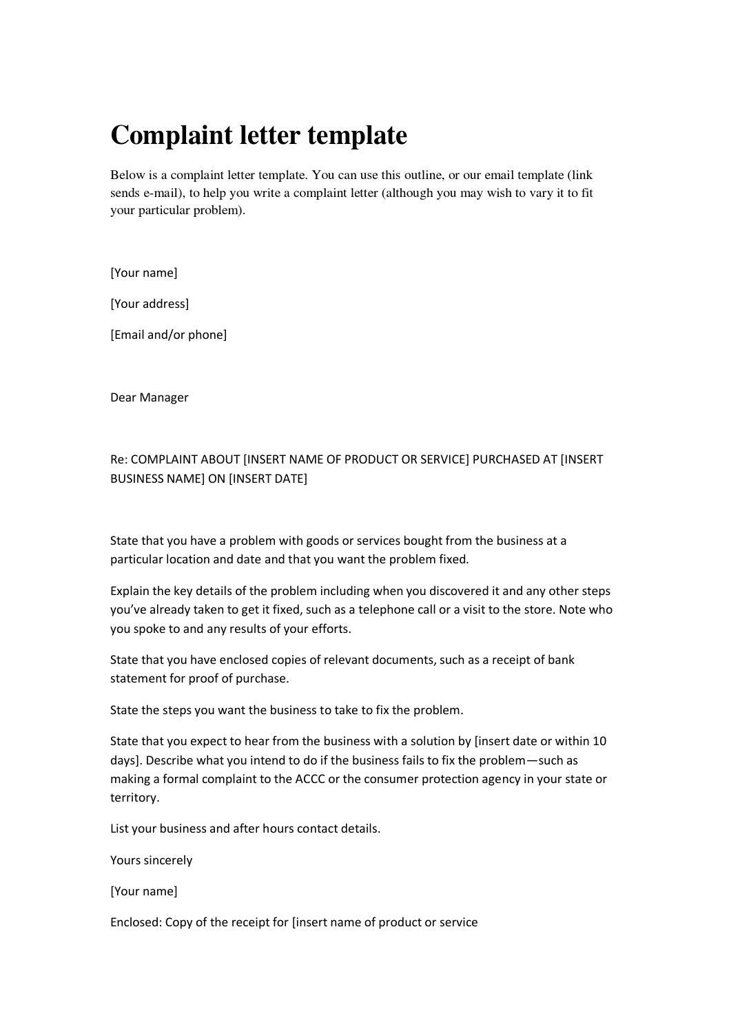 Complaint letters by kati katerina issuu altavistaventures Choice Image