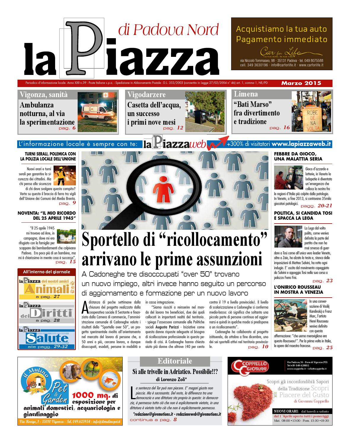 Padova nord marz2015 n39 by lapiazza give emotions - issuu 8512ba6c7330