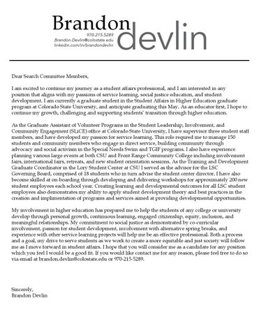 General Cover Letter And Resume By Brandon Devlin Portfolio Issuu