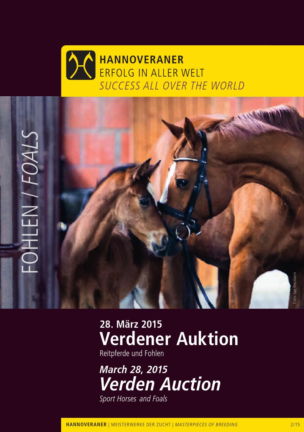 Verdener Auktion März - Verden Auction March Fohlen/Foals by ...