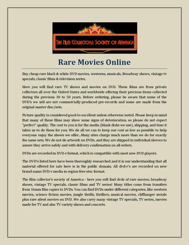 Rare movies online by thefilmcsa - issuu