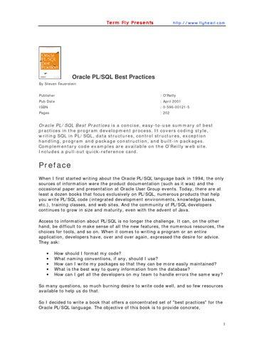 Oracle pl sql best practices by restadj - issuu