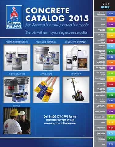Concrete Catalog 2015 by Sherwin-Williams - issuu