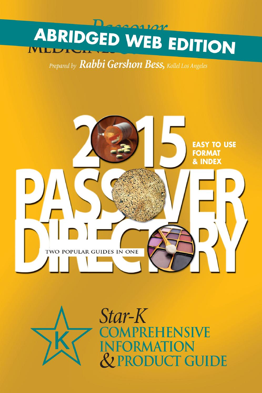 Star K Passover Directory 2015 By Star K Kosher Issuu
