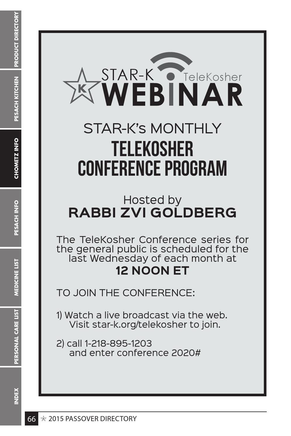 Kosher For Passover Medicine List 2020.Star K Passover Directory 2015 By Star K Kosher Issuu
