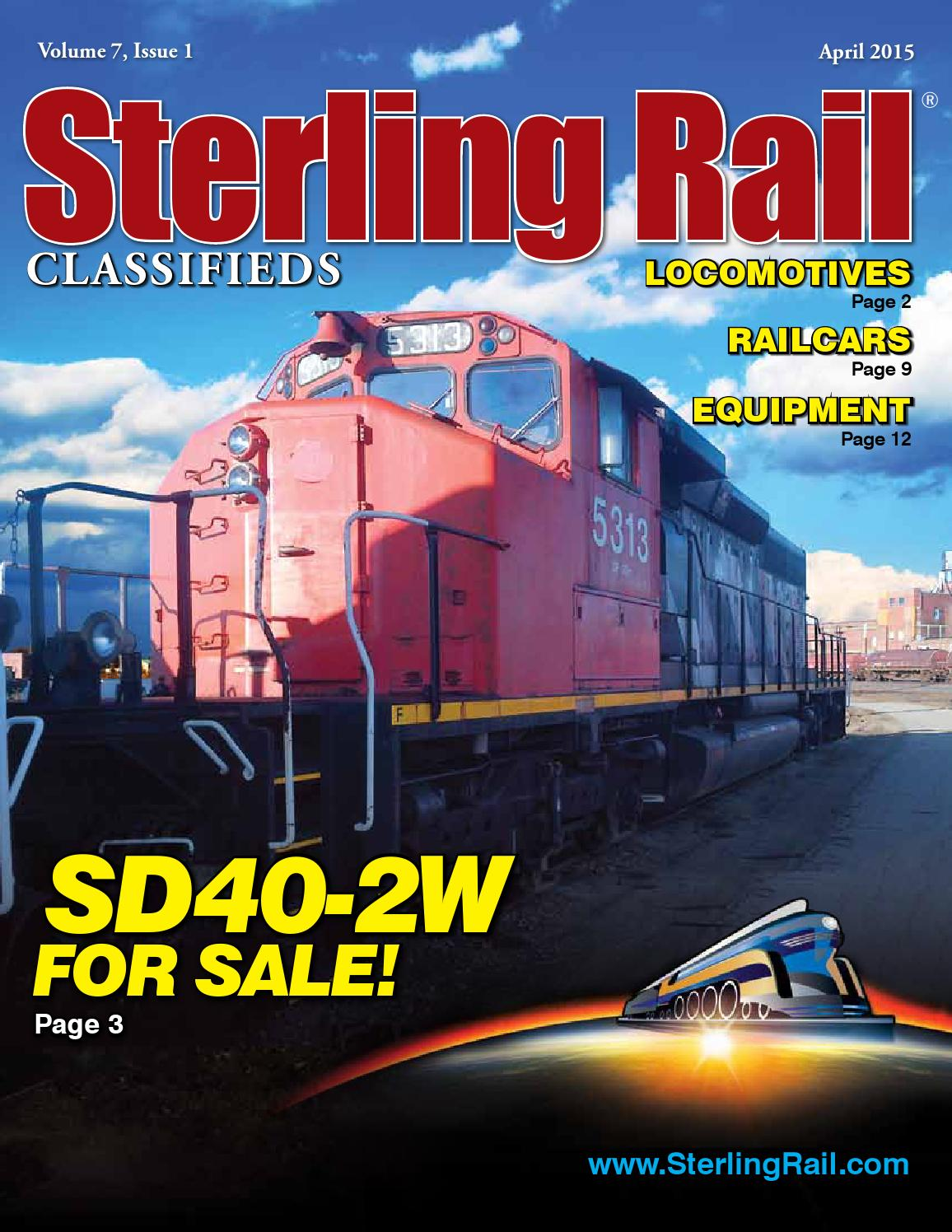 Sterling Rail Classifieds April 2015 Issue by Sterling Rail, Inc. - issuu
