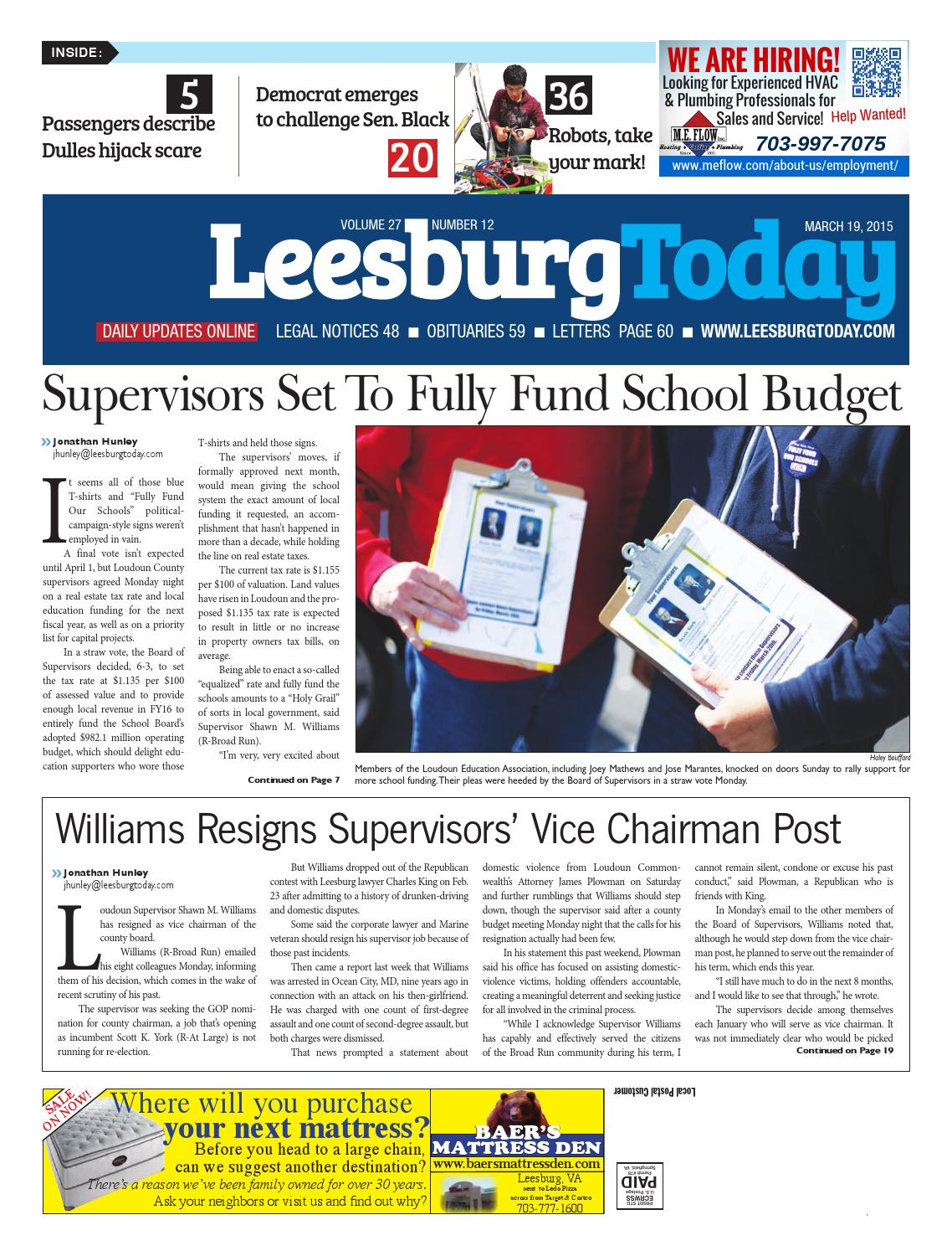 March 19, 2015 Leesburg Today by InsideNoVa - issuu