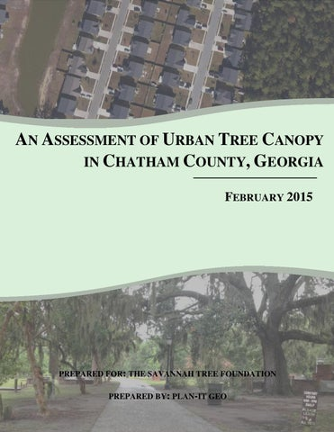 AN ASSESSMENT OF URBAN TREE CANOPY IN CHATHAM COUNTY GEORGIA FEBRUARY 2015  sc 1 st  Issuu : urban tree canopy - memphite.com