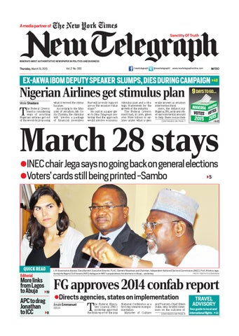 Thursday March 19 2015 Binder1 By Newtelegraphonline Issuu
