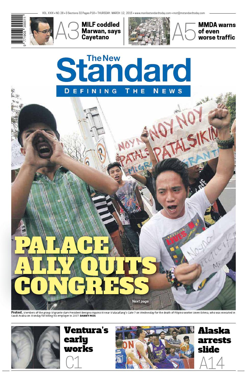 The Standard - 2015 March 12 - Thursday