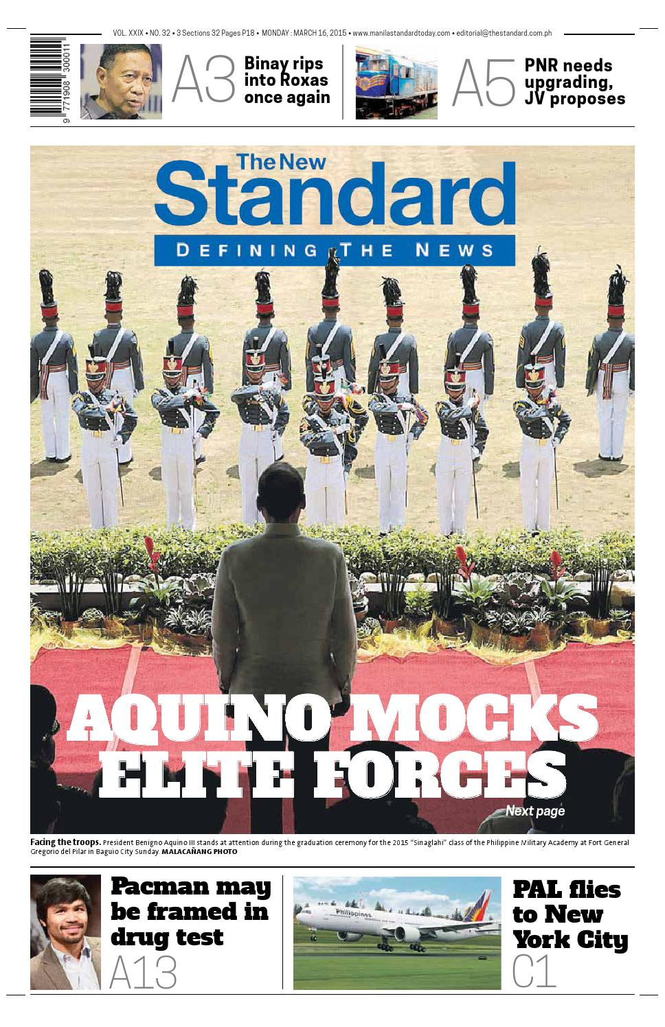 21a5bbdbca3c The Standard - 2015 March 16 - Monday by Manila Standard - issuu