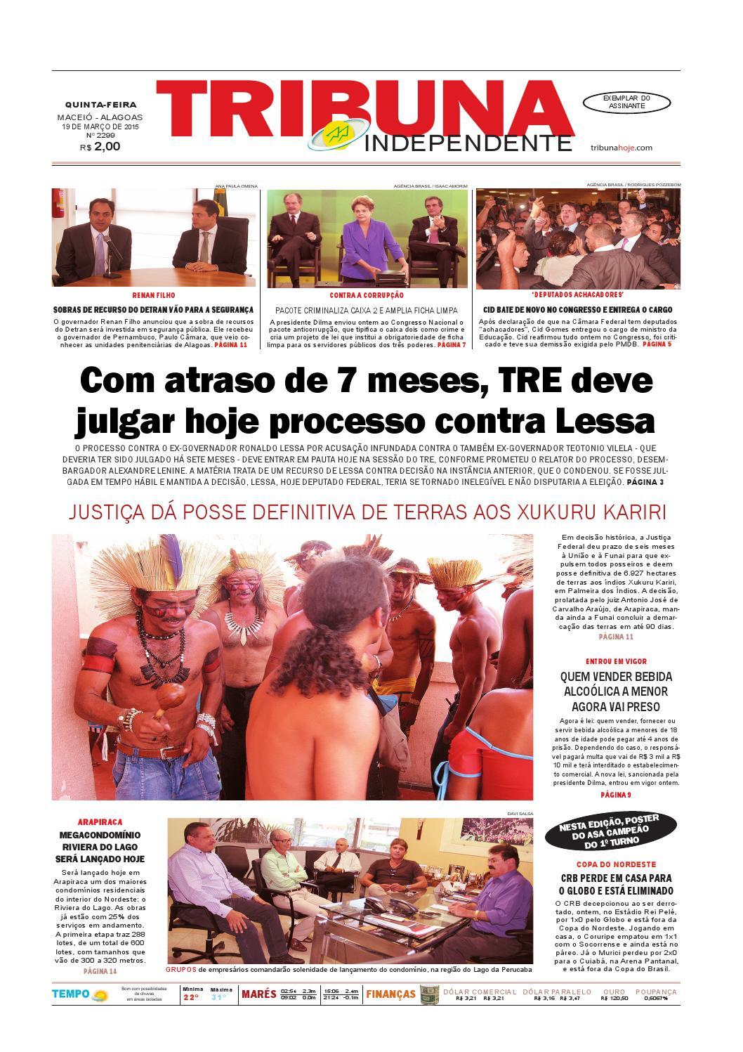 5ac4f20ffb Edição número 2299 - 19 de março de 2015 by Tribuna Hoje - issuu