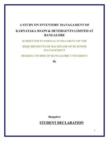 A study on inventory managament of ksdl by Sanjay Gupta - issuu
