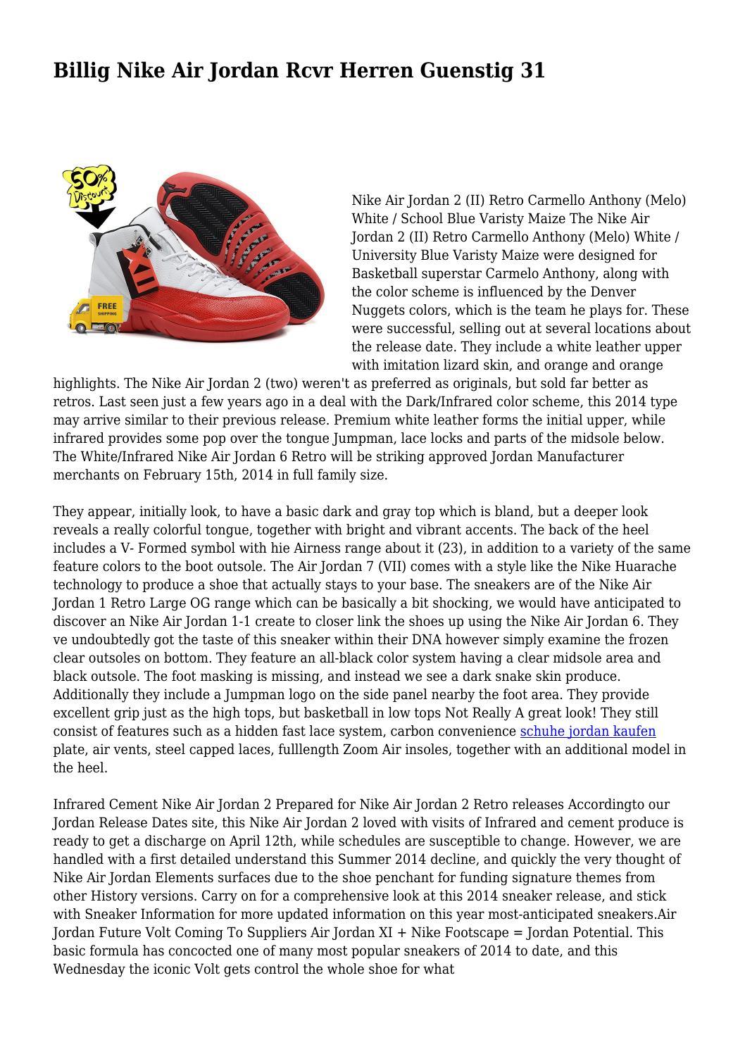 the latest 72f2c a9e83 Billig Nike Air Jordan Rcvr Herren Guenstig 31 by ...