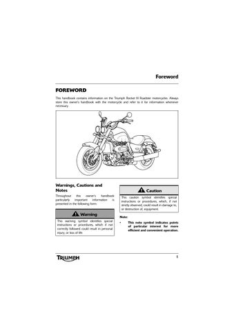 Owners Manual Triumph Rocket Iii Roadster Abs By Mototainment