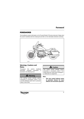 owner s manual triumph rocket iii touring abs by mototainment rh issuu com 2013 Triumph Rocket III MSRP 2013 Triumph Rocket III Roadster