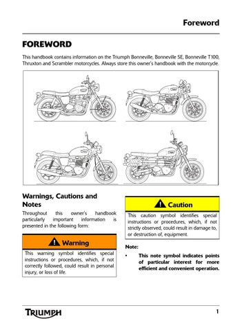 Owners Manual Triumph Thruxton By Mototainment Ducati Triumph