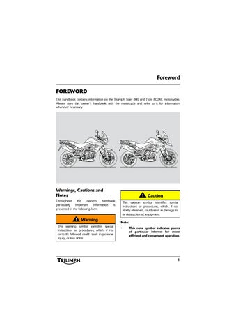 owner s manual triumph tiger 800 xc by mototainment ducati rh issuu com tiger 800 service manual pdf 2011 triumph tiger 800 xc owners manual