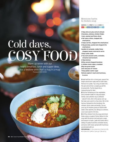 Bbc good food me 2015 january by bbc good food me issuu moroccan harira chicken soup serves 4 5 forumfinder Choice Image