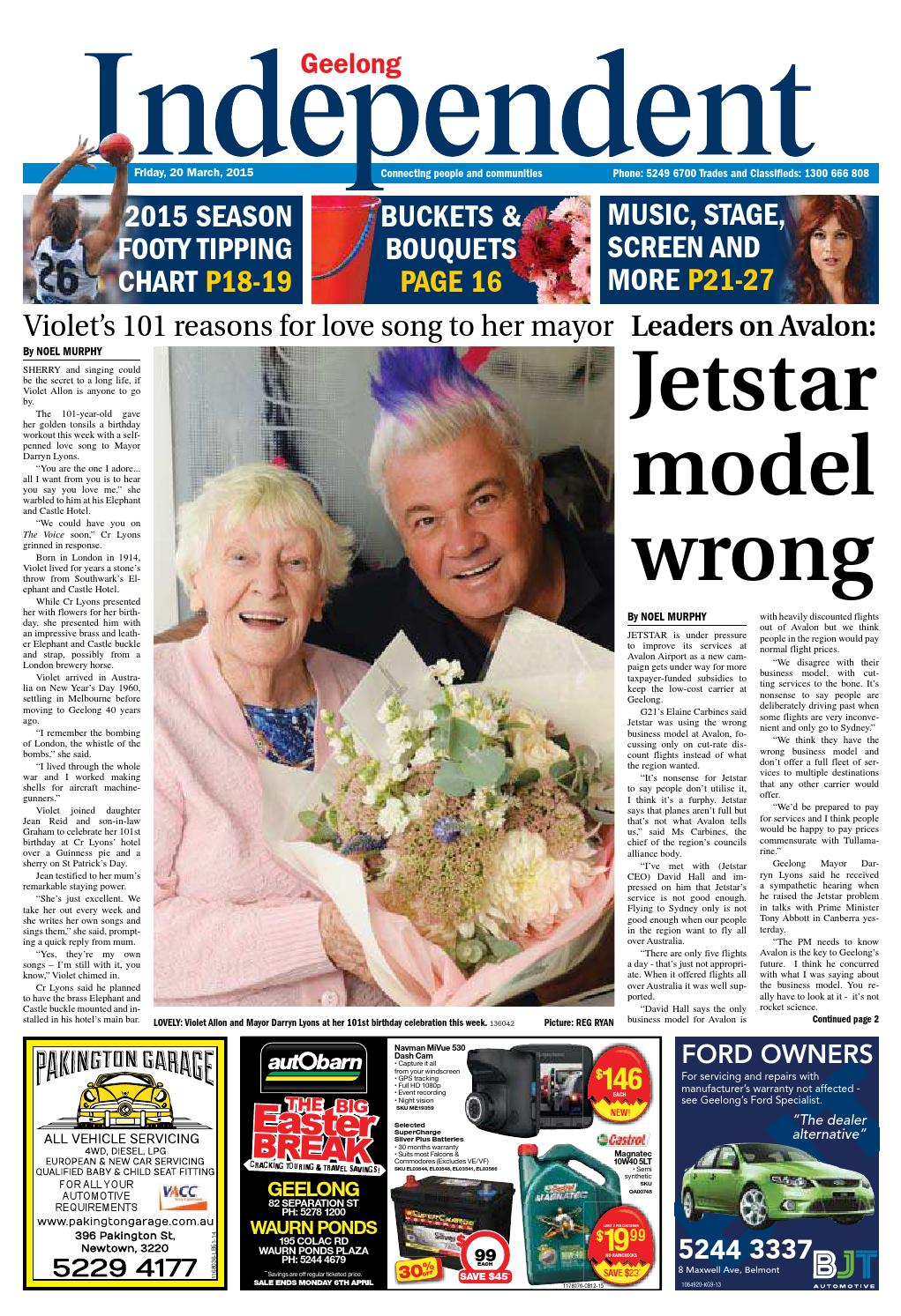 Geelong Independent 20th March 2015 By Star News Group Issuu